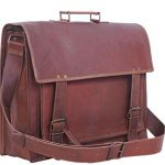 Komal's Passion Leather 16″ Sturdy Messenger Bag for Laptop (Fits 14″ / 15.6″)