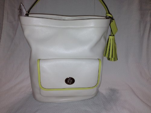 Coach Archival 2 Tone Leather Bucket Handbag Parchment 22407