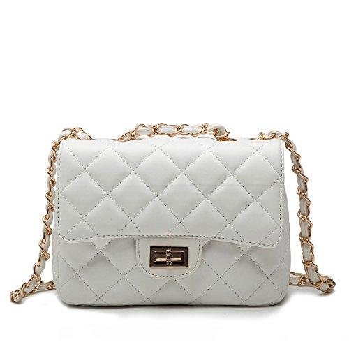 Covelin Women's Leather Fashion Handbag Quilting Envelope Cross Body Shoulder Bag