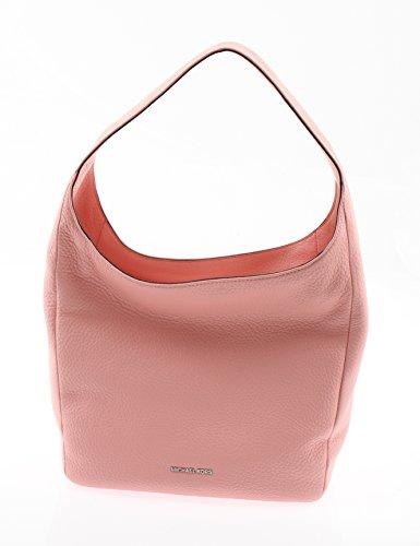 Michael Kors Lena Large Shoulder Bag Leather in Pale Pink 30S6SL1L7L