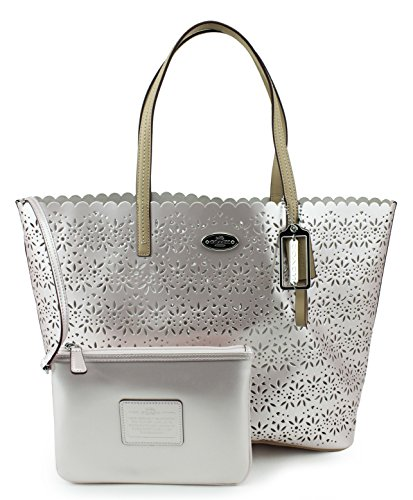Coach Metro Eyelet Leather Tote Bag & Wristlet, Style 35716