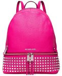 Michael Kors Rhea Zip Large Studded Leatther Backpack (Raspberry)