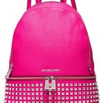 Michael Kors Rhea Zip Large Studded Leatther Backpack (Raspberry)