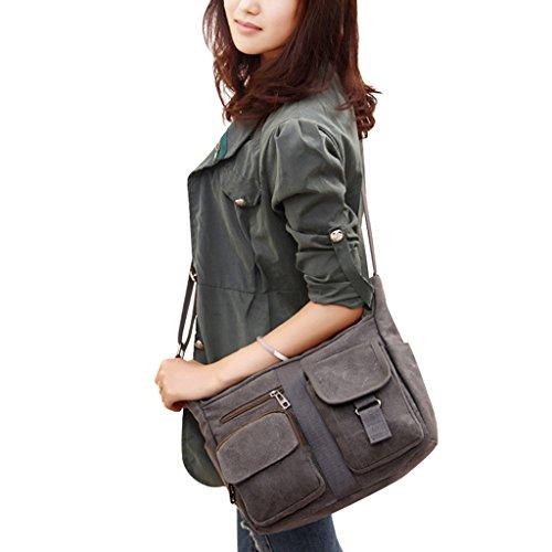 ENKNIGHT Women Shoulder Bags Casual Handbag Travel Canvas Bag Messenger Sling Bag