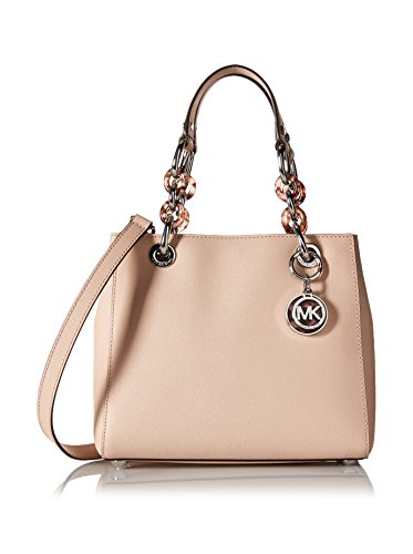 MICHAEL Michael Kors Cynthia Small North South Satchel Ballet/Silver