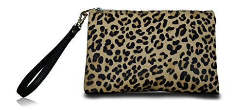 Lucky Love Clutch Wristlet & Crossbody Bag Purse, 100% Genuine Leather Wrist Wallet, Can Hold iPhone 6 Plus
