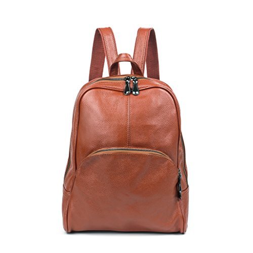 Baigio Uni New Casual Soft Leather Backpack Travel Camping Purse Bag