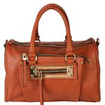 Diophy PU Leather Dual Compartments Top Handle Doctor-style Satchel Womens Handbag Purse MY-2401 MY-2400 RX-1933