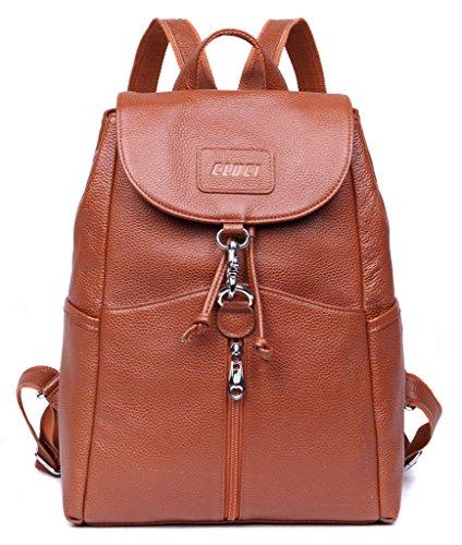 CLUCI Women Leather Backpack Purse Satchel Shoulder School Bags ...