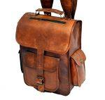 Handolederco Vintage Bag Leather Handmade Vintage Style Backpack/College Bag