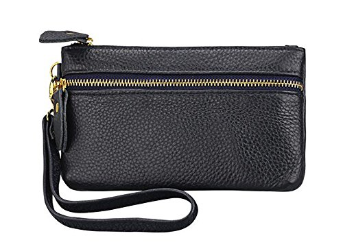 ETIAL Womens Genuine Leather Cellphone Pouch Wristlet Zip Wallet