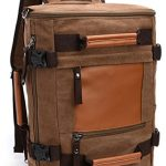 Aidonger Multifunktions Vintage Canvas and Leather Shoulder bag Travel Backpack