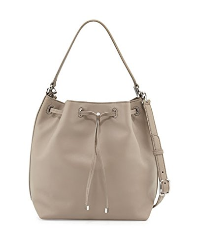 Tory Burch Toggle Drawstring Bucket Bag - French Gray