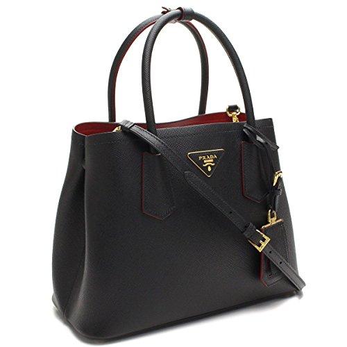 a7b7d11548e80d Prada Saffiano Nero/Fuoco Tote Bag | Leather Bags