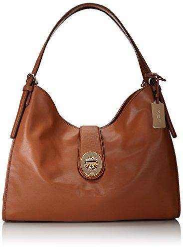 Coach 32221 Madison Carlyle Leather Shoulder Bag Saddle