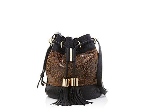 see by chloe vicki leopard animal print bucket shoulder bag