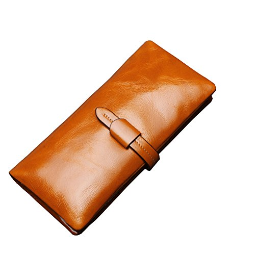 116f1ee452 Covelin Women's Purse Handbag Large Capacity Genuine Leather Envelope Clutch  Wallet Soft Hot