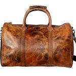 Rustic Town Leather Duffel Bag for Men