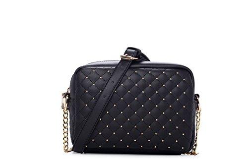 Covelin Women's Leather Fashion Handbag Large Capacity Quilting Cross Body Shoulder Bag