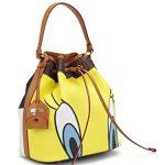 Moschino Looney Tunes Tweety and Sylvester Bucket Bag Leather Handbag