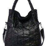 Heshe Soft Office Lady Leather Sheepskin Simple Style Organizer Fashion Hobo Tote Top Handle Shoulder Crossbody Zippered Bag Satchel Purse Women's Handbag