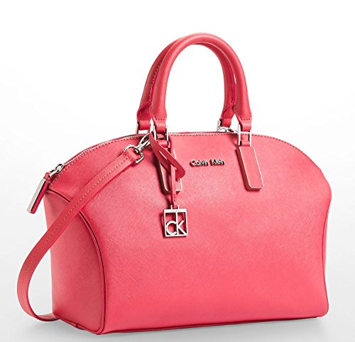 Calvin Klein Scarlett Saffiano Leather City Dome Satchel Bag