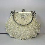 Taidaf-Pearl Series-1920's Vintage Full Beaded Rhinestone Evening Bag Wedding Clutches Handle Purse