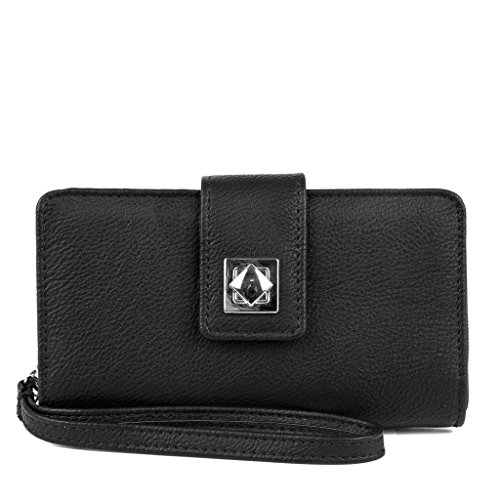 MUNDI Benny Women's Wristlet Wallet Clutch Organizer with Smart Phone Pocket