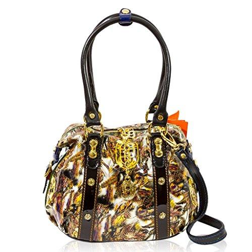 Marino Orlandi Italian Designer FOILAGE Glitter Patent Leather Crossbody Bag 72d04fae5e78c