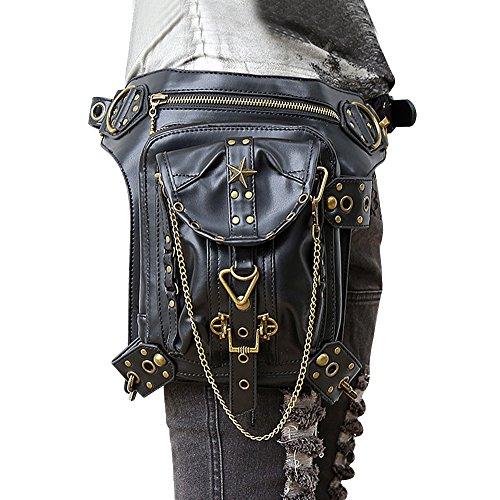 XY Fancy Steampunk Bag Retro Rock Gothic Goth Shoulder Waist Bags Packs