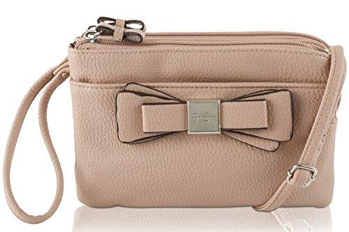 Jessica Simpson Evette Double Zip Wristlet Wallet Crossbody Bag