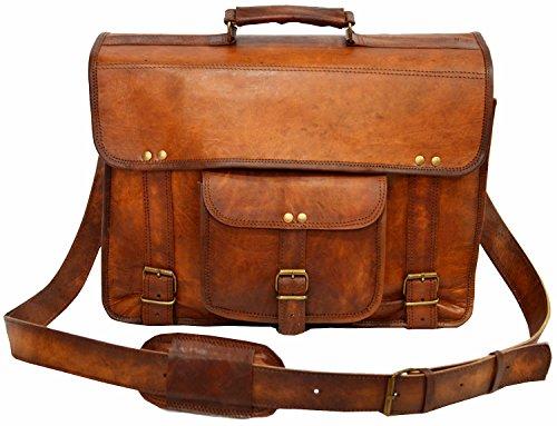 HIDE 1858 TM Genuine Leather Shoulder Laptop Messenger Bag/Leather Sling Bag