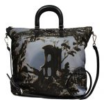 Prada Limited Edition Floral Print Nylon Shopping Tote Shoulder Bag BN2881