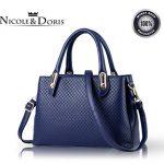 Nicole&Doris New Women Totes Shoulder Bag Crossbody Bag Handbag PU Leather Fashion Simple