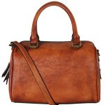 Diophy Doctor-Style Genuine Leather Zipper Closure Tote Handbag 160419