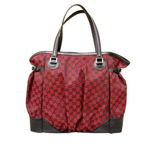Gucci Red Canvas Large Full Moon Tote Bag Handbag Purse 257290 8304 19dbe66bc3f92