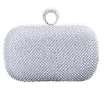 Covelin Women's Ring Handbag Reticular Rhinestone Beaded Evening Clutch Bag Hot