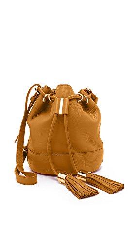 SEE BY CHLOE Vicki Cognac Leather Bucket Bag