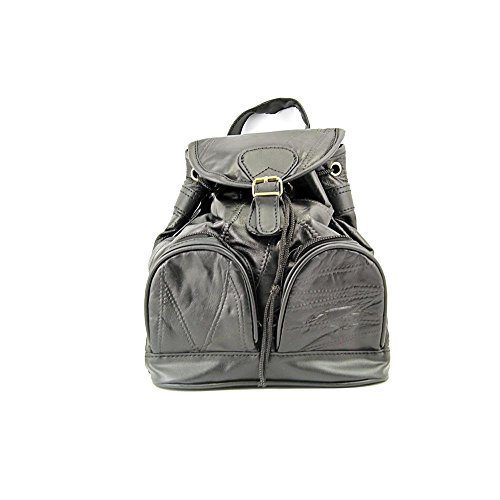 Goson Genuine Cowhide Stylish Patch Leather Backpack/Purse