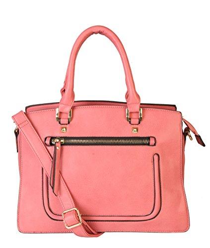 Rimen & Co. PU Leather Top Handle Fashion Tote Satchel Womens Handbag Purse K30-2832 ZD-2023 GS-2995 RX-2001 SZ-2805 OS-2494 GS-3225