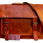 Gbag T18 Inch Vintage Handmade Leather Messenger Bag for Laptop Briefcase Satchel Bag 18X13X6 Inches Brown