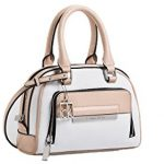 Calvin Klein Womens Valerie Satchel Bag Powder White Color