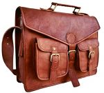 B & H Genuine Leather Messenger Bag 15″ Laptop Bag Leather Satchel Briefcase Bag antique color