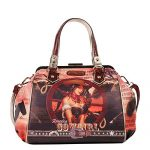 Nicole Lee COWGIRL WHEEL WESTERN PRINT DOCTOR BAG