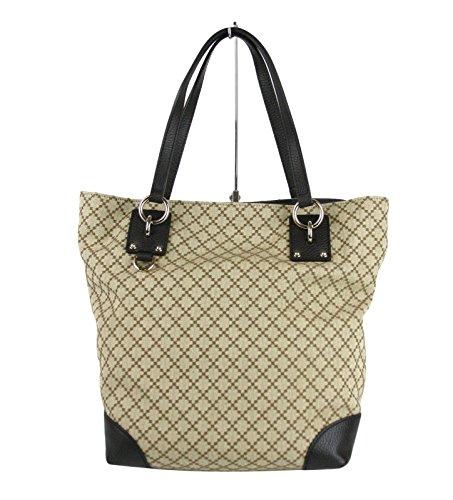 Gucci Beige Diamante Canvas D Ring Detail Tote Handbag 353706 9903