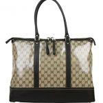 Gucci Women's Brown Crystal GG Tote Large Business Shoulder Bag 327793 9903