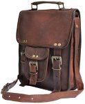 Genuine leather shoulder bag satchel for men messenger bag ipad case tablet bag
