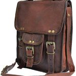 Genuine leather shoulder bag satchel for men messenger bag ipad case tablet bag