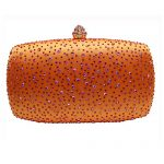DMIX Womens Crystal Box Clutch Evening Bags
