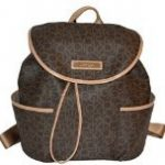 Calvin Klein Women's Bag Monogram Canvas Backpack Satchel Handbag